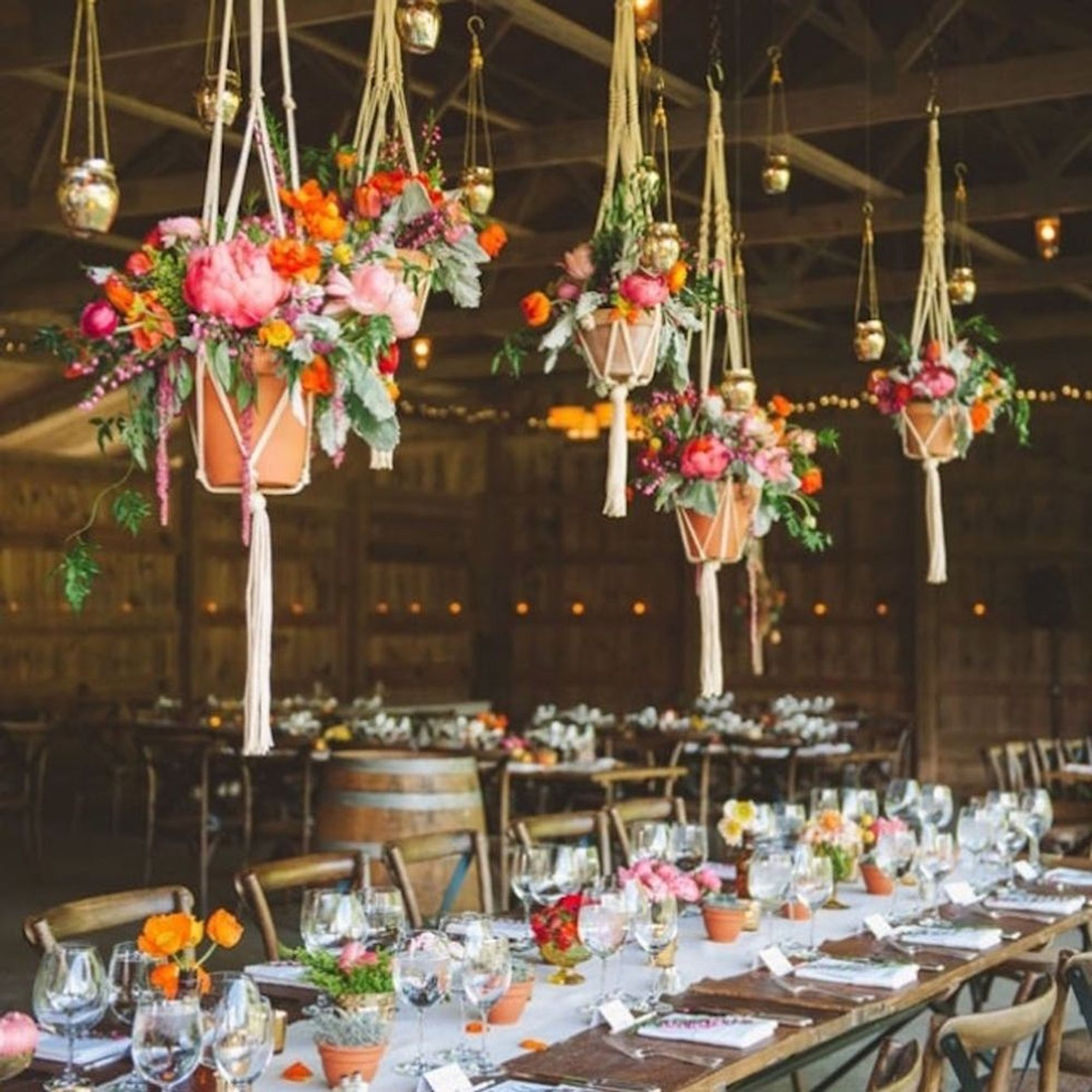9 Hanging Wedding Centerpieces That Will Take Your Decor to a Whole Other  Level - Brit + Co