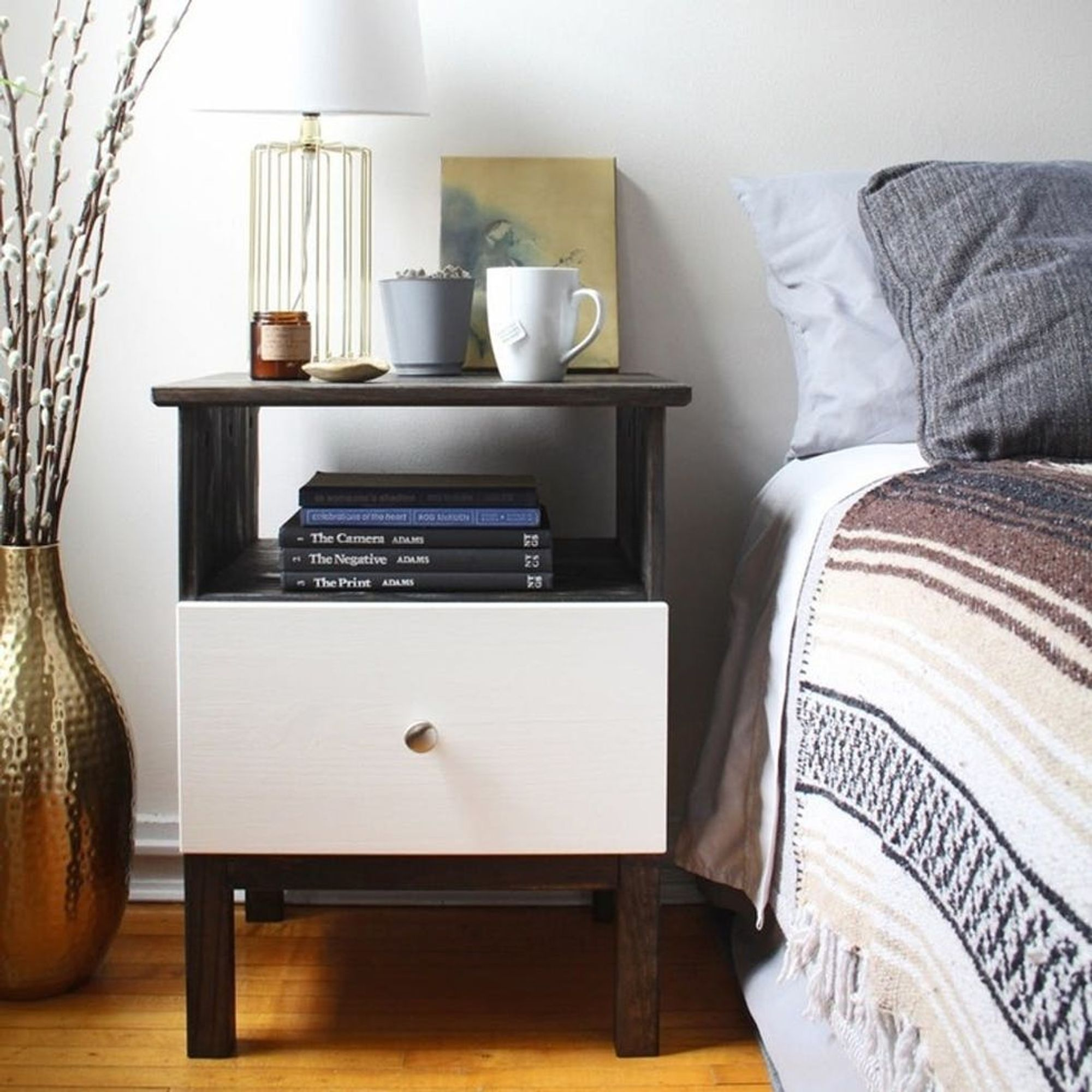11 Ikea Nightstand Hacks Your Bedroom Needs Brit Co,Layout For Small Living Room With Fireplace