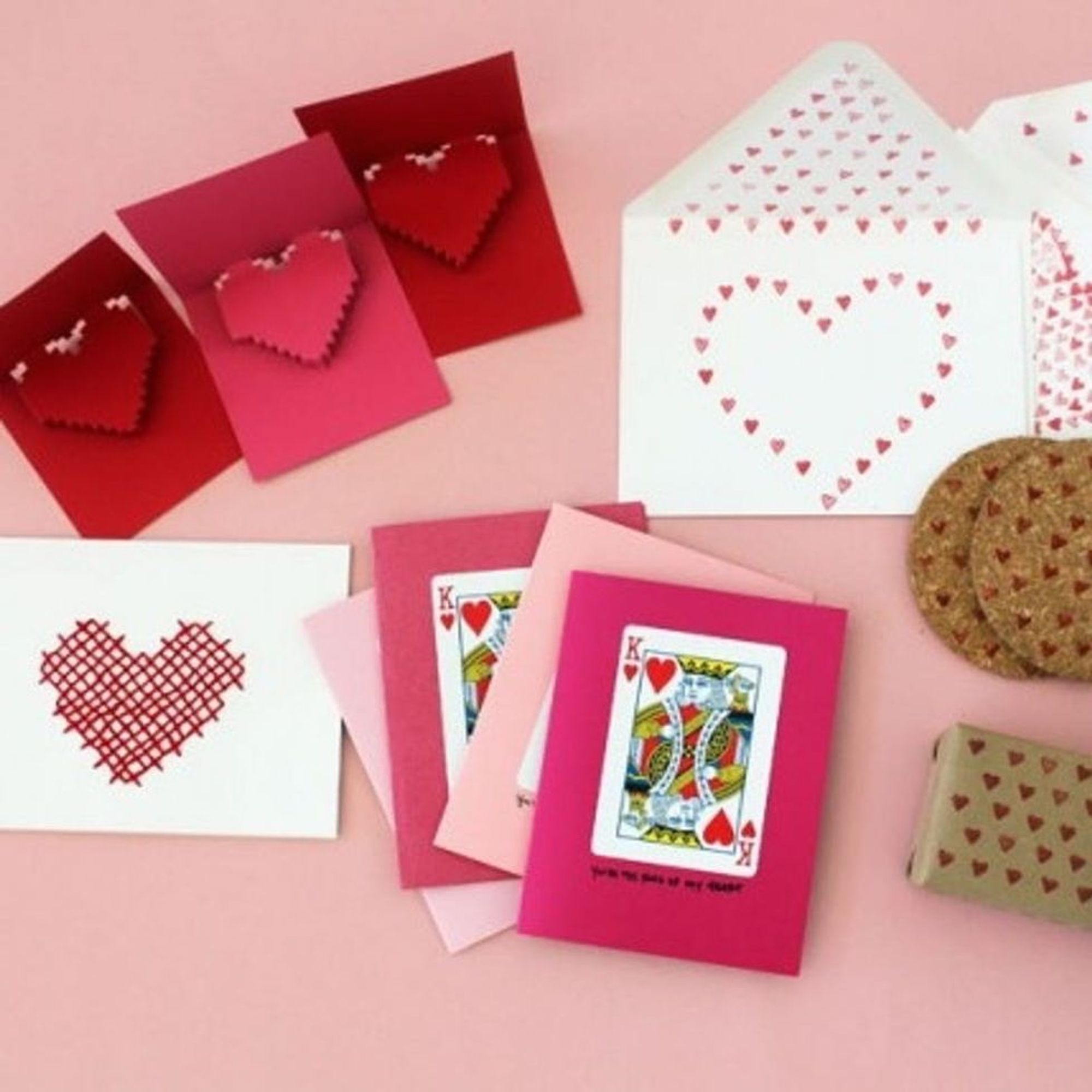 22 sweet diy cards to send your valentine  brit  co